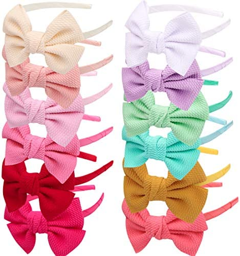 Girls Bows Headbands Hairbands Hair Accessories for Kids Children Teens Toddlers Woman Pack product image