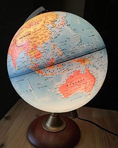 地球儀 [ライト付き] 行政図 球径25cm インテリア 子供用 学習 おすすめ オルビス イタリア製 (本体:青)