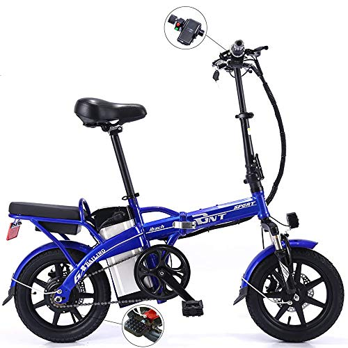 TIANQING Mini Coche eléctrico Plegable, Bicicleta eléctrica de Litio, batería de Litio...