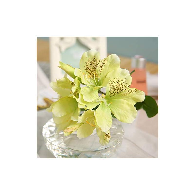 silk flower arrangements shinebear 8 heads silk rhododendron flower artificial single branch flower pastoral fresh style wedding decoration home party hotel 1pcs