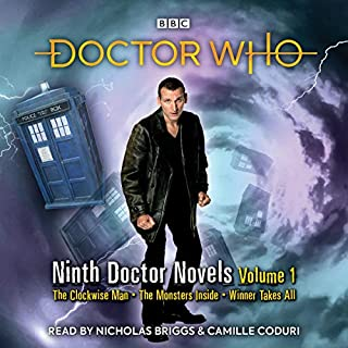 Doctor Who: Ninth Doctor Novels     9th Doctor Novels              De :                                                                                                                                 Justin Richards,                                                                                        Stephen Cole,                                                                                        Jacqueline Rayner                               Lu par :                                                                                                                                 Camille Coduri,                                                                                        Nicholas Briggs                      Durée : 17 h et 58 min     Pas de notations     Global 0,0