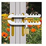 Tough & Easy French Patio Door Lock for Double Door Handle 'P', D' or Standard Handles High Security Deadlock Also Fits Sliding Handles Visible from Outside (Standard Version)