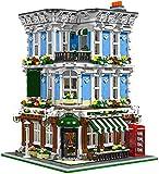 House Lion Pub Modelo ladrillos de construcción, 5910 Bloques de construcción con abrazadera, modelo de arquitectura de casa con figuras,