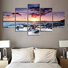 Sunset Rock Painting HD Five Oil Painting Spray Paint, 30 * 40 * 230 * 60 * 230 * 80 * 1-,
