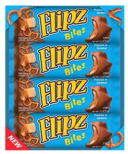 Flipz Bites Bar, Milk Chocolate Caramel Pretzel, 1.5 Ounce (3 Pieces) - (Box of 24)
