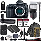 Canon EOS 6D Mark II Wi-Fi DSLR Camera Body - with Pro Battery Grip, TTL Flash, Canon Backpack,128GB Memory, Replacement Battery for LP-E6N, 72' Monopod, RC-6 Wireless Remote, and more..(19 Items)
