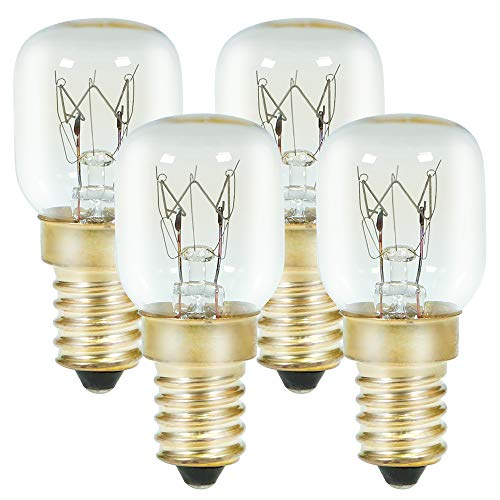GMY E14 Oven Bulbs 25W 230V for Microwave Oven Refrigerator Cooker Hood Applications 4 Pack