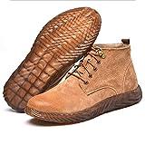 Djpcvb Zapatos de Seguridad Los Hombres de Anti-Sensacional Anti-perforación súper Blando eléctrico Soldador Inferior Especial Zapatos Desodorante Invierno de algodón Suave estupendo Trabajo Bottom