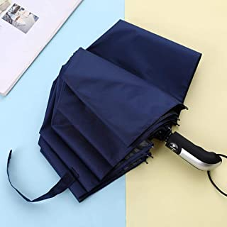 Automatic Foldable Umbrella Sun Umbrella Ten Shares,Navy