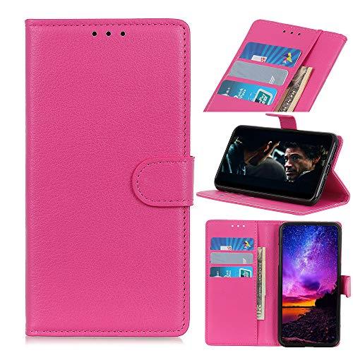 MSOSA Kompatibel mit Handyhülle Hülle Xiaomi Black Shark 2, Wallet Hülle, Handyhülle als Brieftasche, TPU Schutzhülle Handytasche mit Kartenfach Ständer Magnet_Rose rot