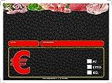 50 CARTELLINI SEGNAPREZZI IN PVC DA 0.7mm BASE NERA FORMATO 7X10