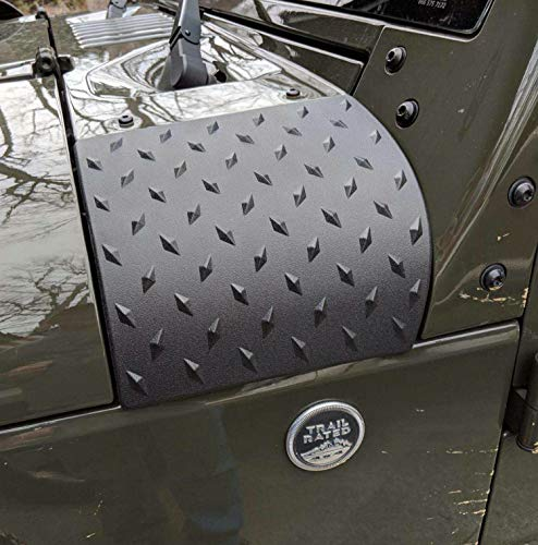 MOEBULB Cowl Body Armor Powder Coated Finish Outer Cowling Cover Compatible for Jeep Wrangler JK Rubicon Sahara Sport X & Unlimited 2/4 door 2007-2016