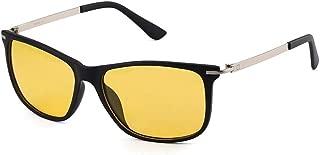 SGJFZD Fashionable Plastic Frame Polarized Glasses Women's Sunglasses Eye Protection Sunshade Mirror Glasses (Color : Yellow)