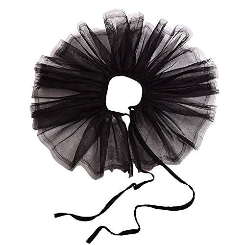 Blessume Retro Neck Ruff Ruffle Collar, Black, One size