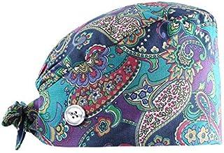 MARSTOMOON Adjustable Bouffant Hats Head Scarf Working Cap with Sweatband for Women Men