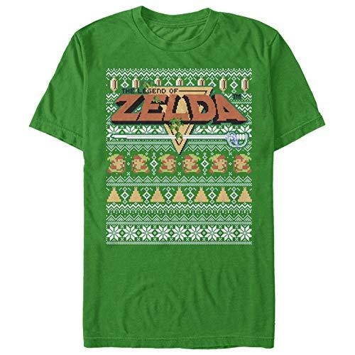 Nintendo Men's Legend of Zelda Ugly Christmas Sweater Kelly Green T-Shirt