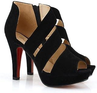 CLEARANCE SALE! MEIbax frauen im frühjahr so dünn heels schuhe peep - toe - schuhe mit hohen absätzen (39, Schwarz)