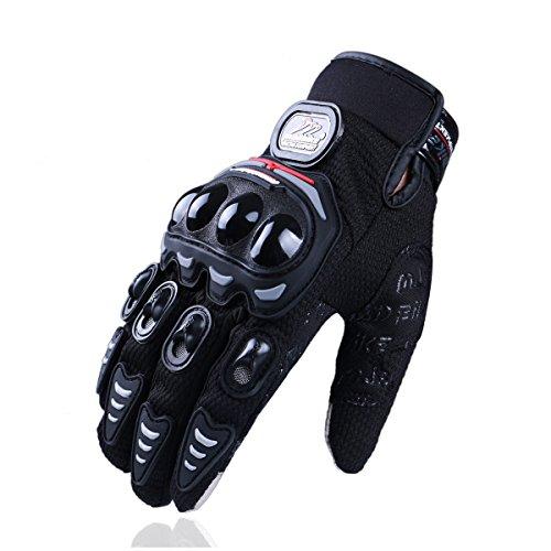 Madbike Gants de moto d'été mesh écran tactile transpirable (X-Large, black)