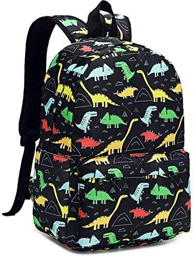 CAMTOP Preschool Backpack for Boys Kids Backpack Kindergarten School Bookbags Dinosaur Black product image