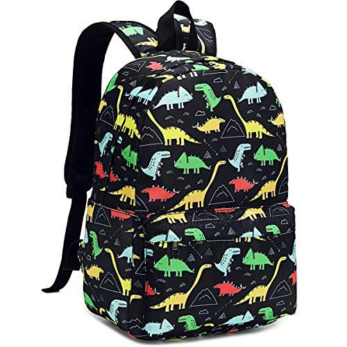 CAMTOP Preschool Backpack for Boys Kids Backpack Kindergarten School Bookbags (Dinosaur-Black)