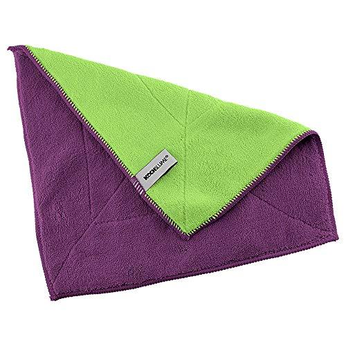 Kochblume Microfasertuch Set, 10-teilig | Premium Microfaser | Set in der pinken Box (lila-grün)