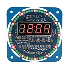 100% brand new and high quality This is a set of electronic components that you can use to DIY clock The kit has many LEDs which can make your clock quite special Connect to 5V voltage as power supply, and 3V button cell can be used for clock chip on...