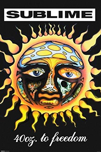 Pyramid America Sublime 40 Oz to Freedom Music Cool Wall Decor Art Print Poster 24x36