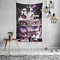 Lansome Naruto Anime Eyes Cool Tapestry Single-Sided Printing, Soft And Durable, Skin-Friendly, Anime Decorations,...