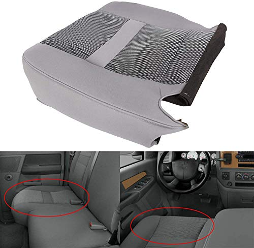 ECOTRIC Driver Seat Bottom Cloth Cover Replacement Fits Dodge Ram 2006-2008 SLT 1500 and 2006-2009 SLT 2500 3500