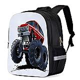 Fashion Elementary Student School Bags- Cartoon Monster Truck - Durable School Backpacks Outdoor Daypack...