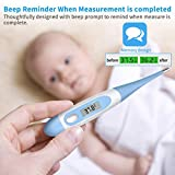 Celsius ONLY Oral Digital Thermometer Digital Body Rectal Thermometer LCD Thermometer Underarm Oral Rectal Thermometer for Baby Adult Children, Readings in 20 Seconds High Precision ≤ ± 0.1