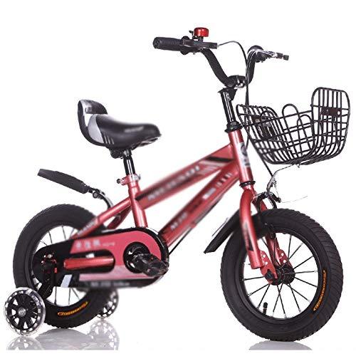 WJTMY Bicicleta para niños Cochecito de bebé Masculino y Femenino de 12 Pulgadas Bicicleta de Juguete Coche Rueda Auxiliar Intermitente silenciosa (Color : B)