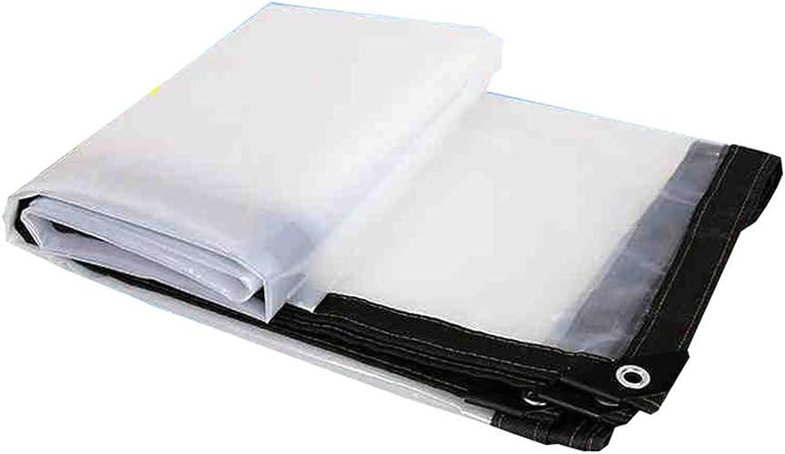 JUEJIDP Bordures Transparentes Baches en Plastique Fenêtre en Tissu Tissu Coupe-Vent Fleur Tissu de Pluie Grand Film de Remise Tente