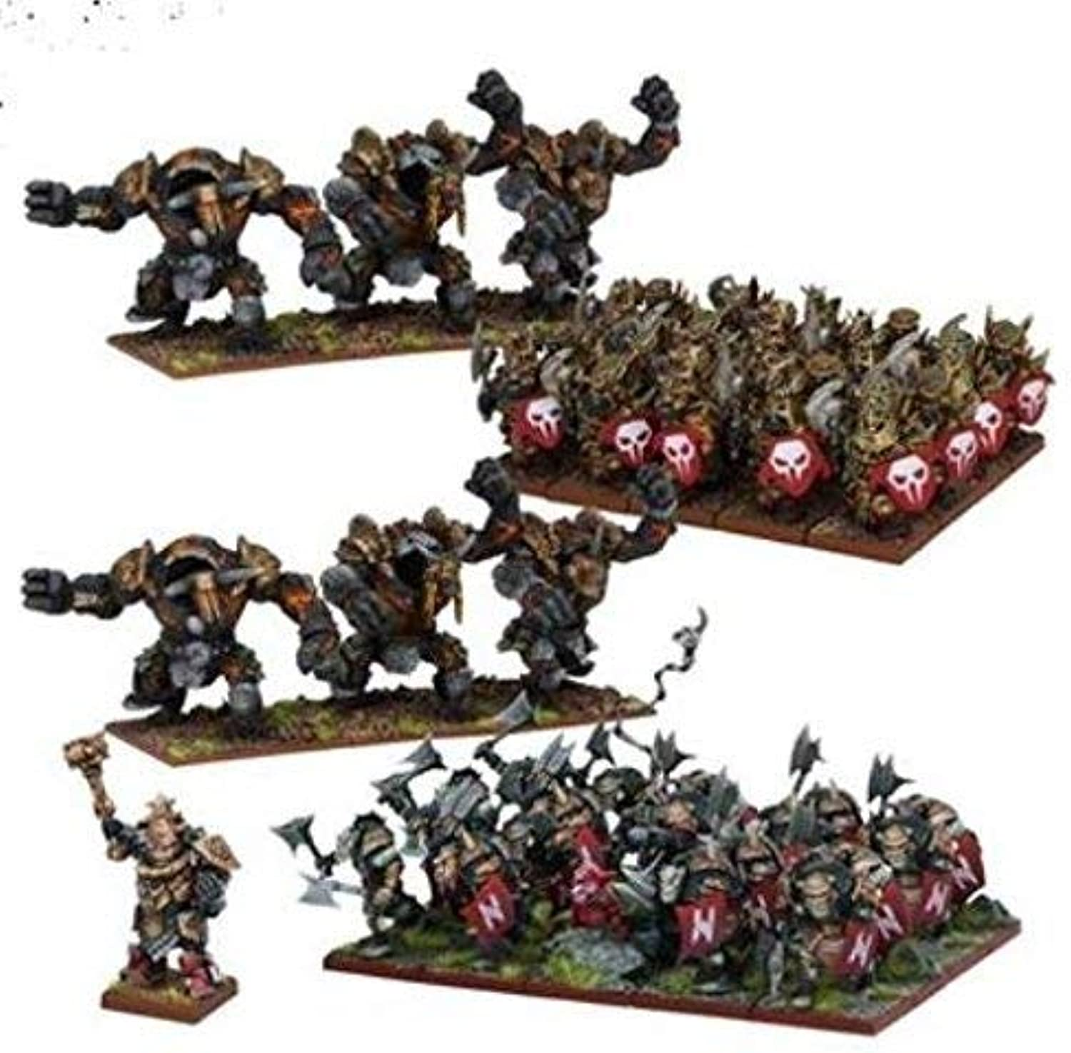 Mantic Games MGKWK110 Abyssal Dwarf Army Miniature Game, MultiColour