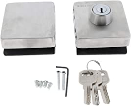Blesiya Metalen Deurslot Voor 10-12 Mm Dikke Glazen Deur/Glazen Schuifdeur Incl. Sleutel- En Montagegereedschap (zilver)