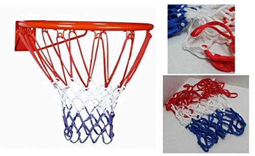 LCN Filet de Panier Basket - Tricolore France Bleu Blanc Rouge - 12 Trous