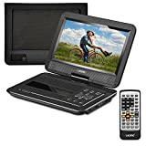UEME Portable DVD Player with 10.1 Inches Screen, Car Headrest Mount Holder, Remote