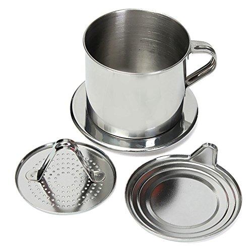 Vietnamesische Kaffeefilterpresse, Edelstahl vietnamesische Kaffeefilter-Set Beste Kaffeefilter für Zuhause/Küche/Büro/Outdoor