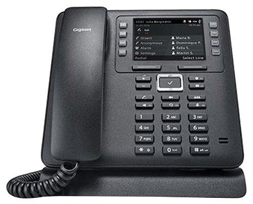 Gigaset Pro Maxwell 3 leistungsstarkes Desktop-Telefon - digitale Kommunikation mit HD Audio - kristallklares Farbdisplay für optimale Lesbarkeit - Business Phone, schwarz