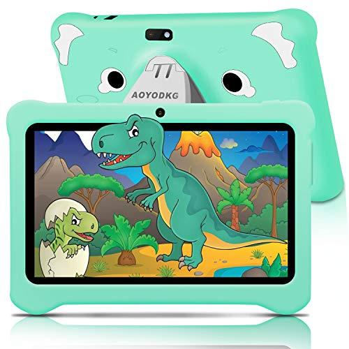 AOYODKG Tablet para Niños 7.0 Pulgadas con WiFi 3GB RAM 32GB/128GB ROM Android 10.0 Pie Certificado por Google GMS Dual Camera Tablet...