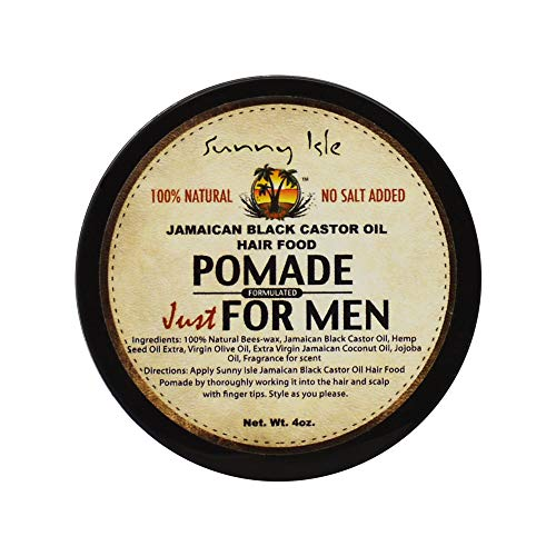 Sunny Isle Jamaican Black Castor Oil Hair Food Pomade for Men, 4 Ounce