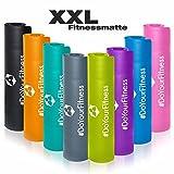 #DoYourFitness XXL Fitnessmatte »Ashanti« / dick und weich, ideal für Pilates, Gymnastik und Yoga, Maße: 190 x 100 x 1,0cm, himmelblau