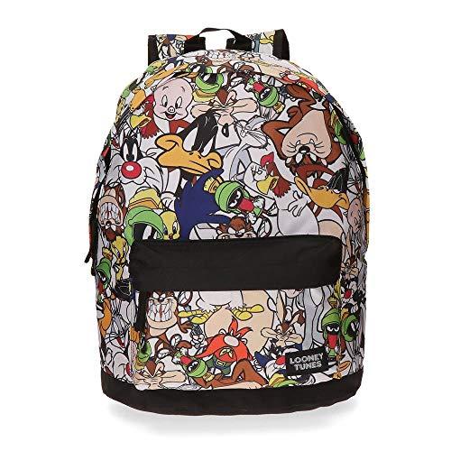 Warner 3262351 Looney Tunes Mochila Escolar, 21.5 Litros, Color Gris