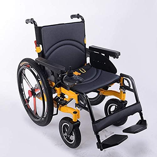 Rollstuhl Rollstuhl Medizinischer Reha-Stuhl für Senioren Alte Menschen Deluxe Elektrorollstuhl Zusammenklappbarer Elektrorollstuhl Li