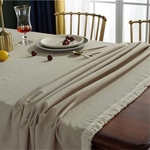 DJUX Poliéster Lavado de algodón Banquete de Noche Restaurante Hotel manteles Juegos de Mantel TV Juegos multifuncionales Toallas 140x180cm