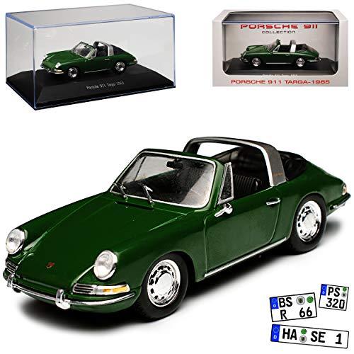 Atlas Porsche 911 Urmodell Targa Grün 1963-1973 1/43 Modell Auto mit individiuellem Wunschkennzeichen