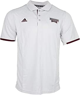 adidas Mississippi State Bulldogs NCAA Men's Grey Climalite Coaches Sideline Polo Shirt