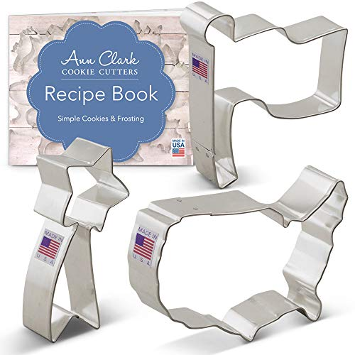 3-Piece Independence Day Patriotic Cookie Cutter Set