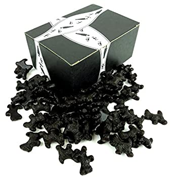 Cuckoo Luckoo All Natural Black Licorice Scottie Dogs 1 lb Bag in a BlackTie Box