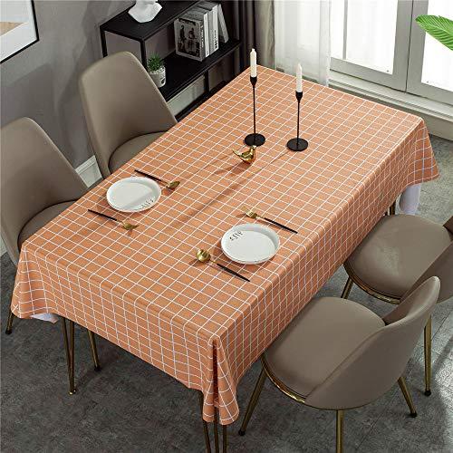 MMHJS Karierte Tischdecke aus PVC Wasserdicht und öldicht ohne Reinigung der Tischmatte Geeignet für Wohnzimmer, Garten, Hoteldekoration